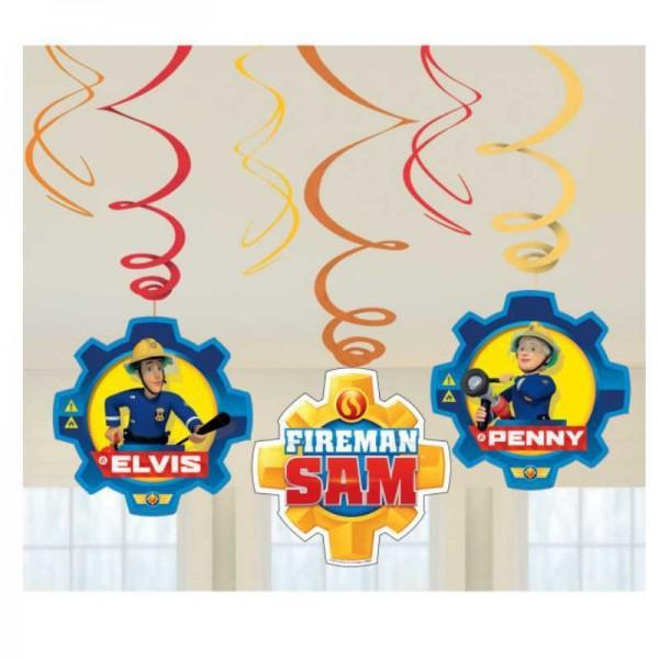 Hängedeko Feuerwehrmann Sam, 6-tlg.