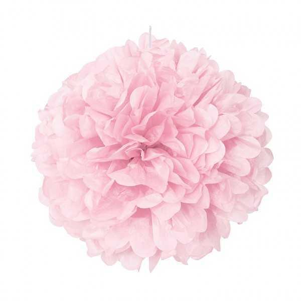 Pompon rosa 40cm, 1 Stk