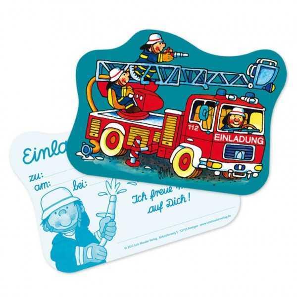 Einladungen Feuerwehr Alarm, 8 Stk