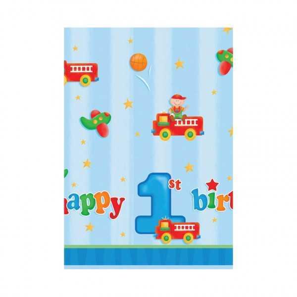 Tischdecke 1. Geburtstag blau, 1 Stk