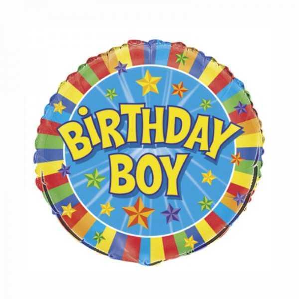 Folienballon Birthday Boy