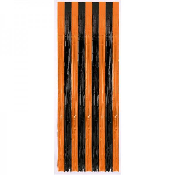 Türvorhang Halloween Schwarz-Orange