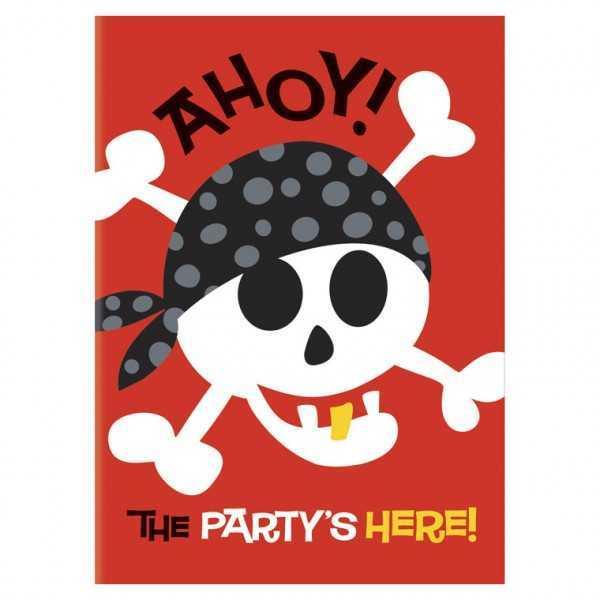 Einladung Ahoi Piraten, 8 Stk