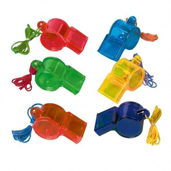 Trillerpfeifen Partypack, 12 Stk