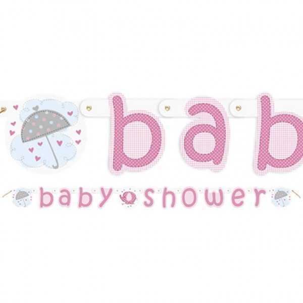 Babyshower Girlande Babyfant rosa, 1 Stk.