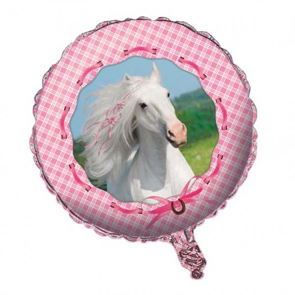 Folienballon Weisses Pferd, 1 Stk