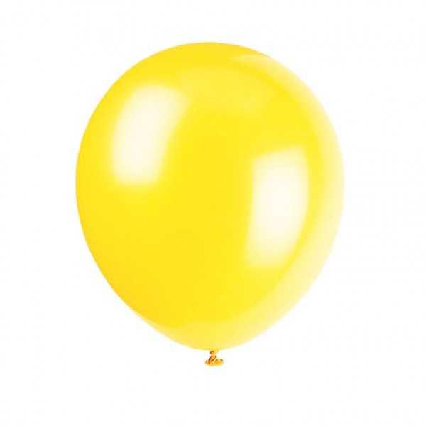 Luftballon gelb, 10 Stk