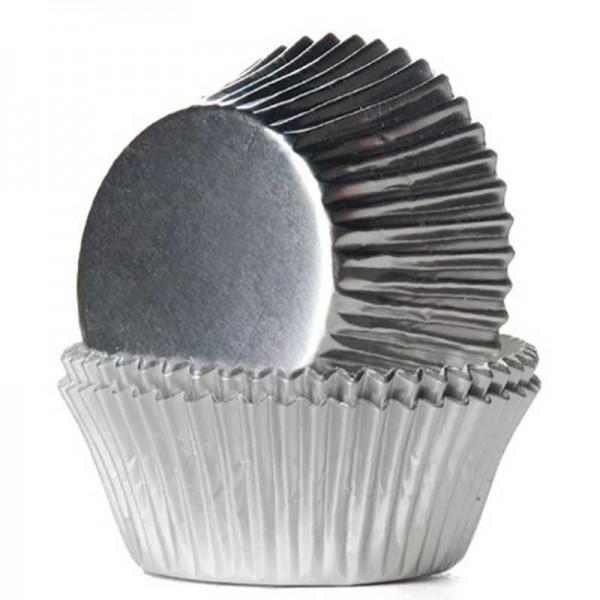 Muffinförmchen Silber, 24 Stk.