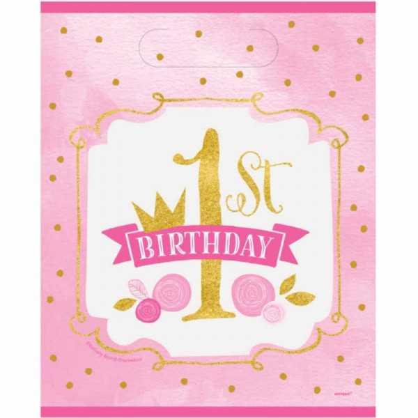 Partytüten 1 Geburtstag Prinzessin