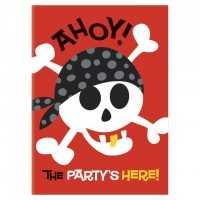 Einladungskarten Ahoi Piraten, 8 Stk.