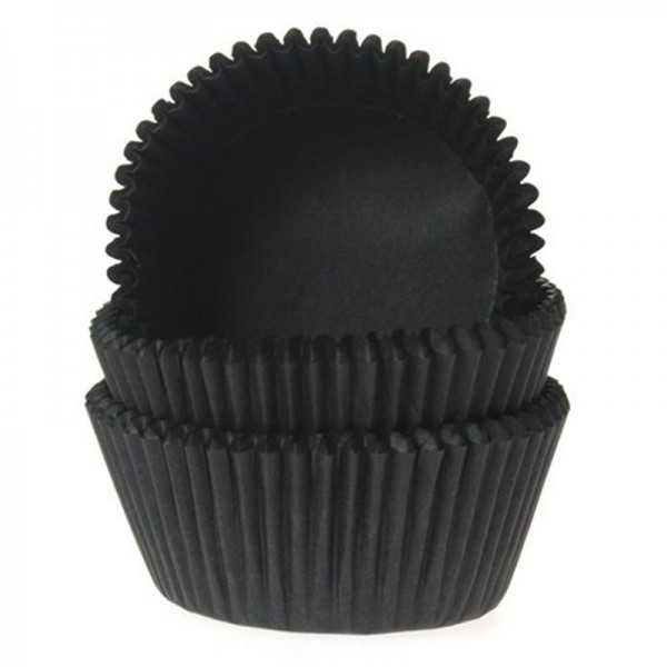 Muffinförmchen schwarz, 50 Stk.