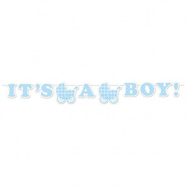 """Babyshower Girlande """"Hurra, ein Junge!"""", 1 Stk"""