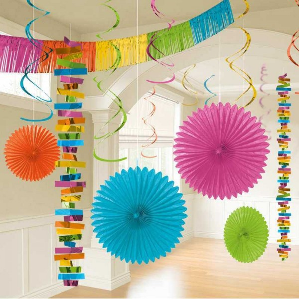 Partyraum-Dekoset farbig, 18 tlg.