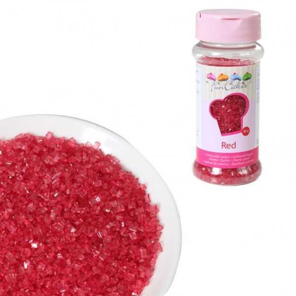 Funcakes Zuckerstreusel Rot, 80 g