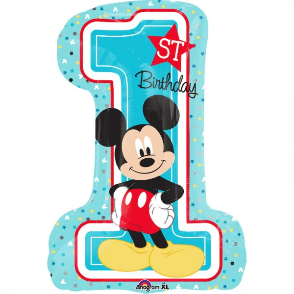 Folienballon Mickey 1. Geburtstag