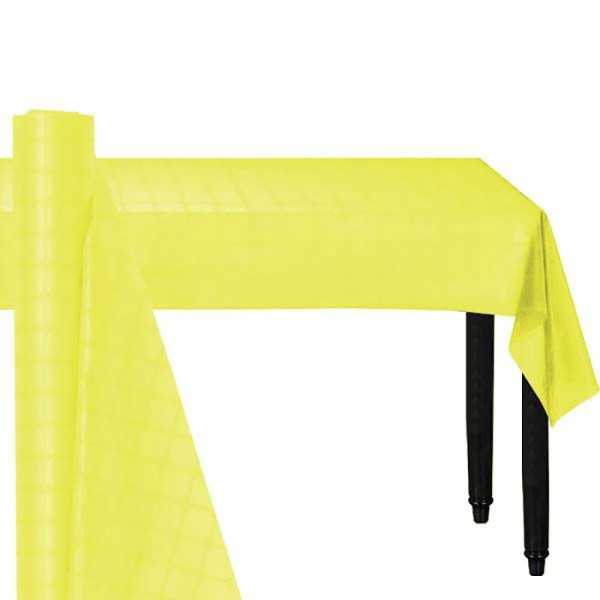Papier-Tischrolle gelb, 8 m