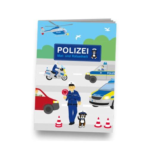 Mal- und Rästelheft Polizei