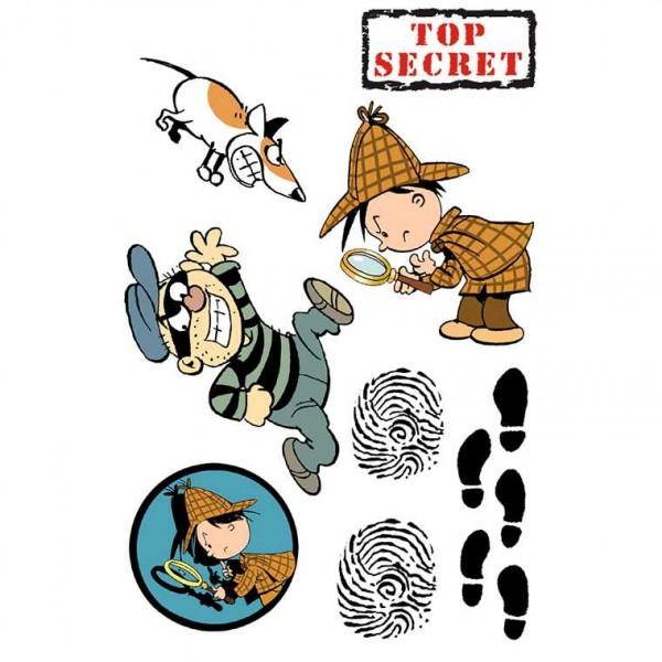 Klebetattoos Detektiv Flo, 1 Stk