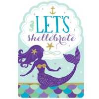 Einladungskarten Meerjungfrau, 8 Stk.