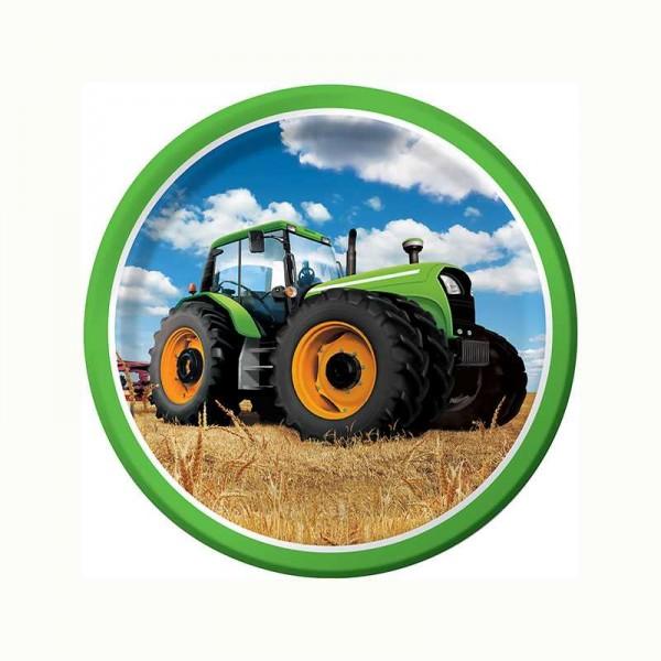 Teller Traktor Party, 8 Stk.