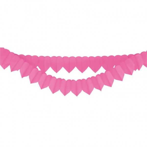 Herzchengirlanden-Set pink, 2-tlg.