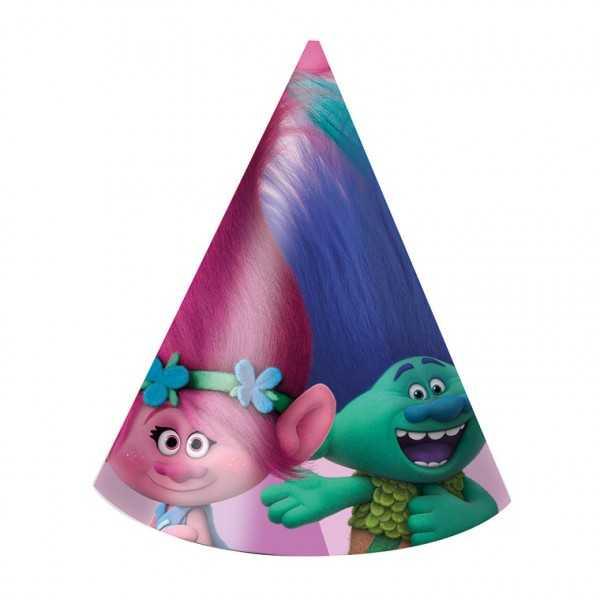 Partyhüte Trolls, 6 Stk