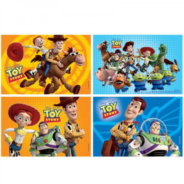 Minipuzzle Toy Story, 4 Stk