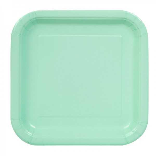 Teller Quadrat Pastellgrün