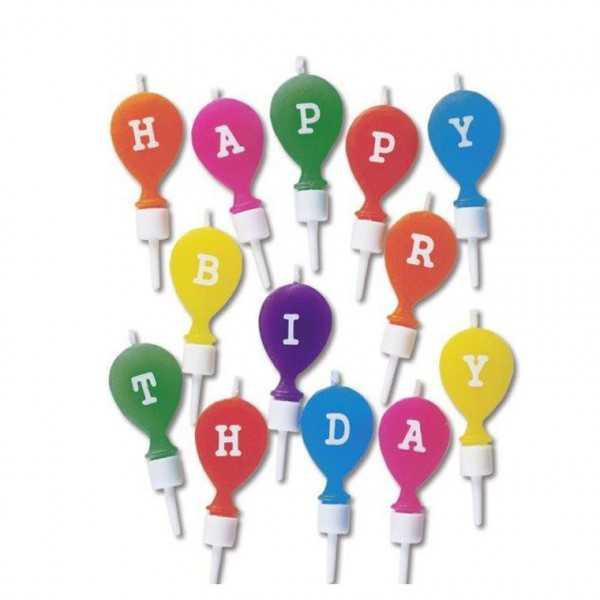Geburtstagskerzen Happy Birthday, 13 Stk.