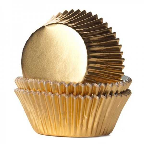 Muffinförmchen Gold, 24 Stk.