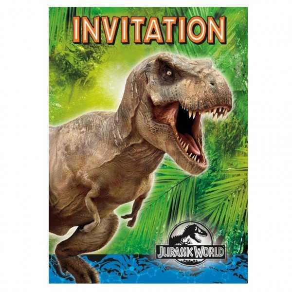 Einladung Jurassic World, 8 Stk