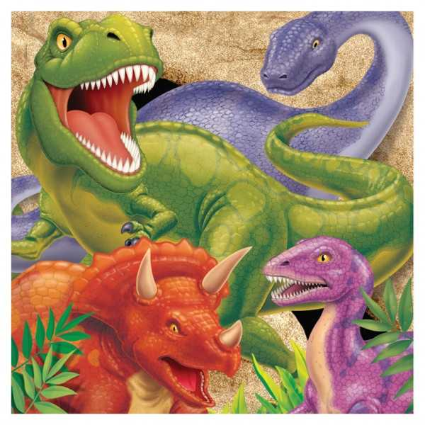 Servietten Dinosaurier Alarm, 16 Stk