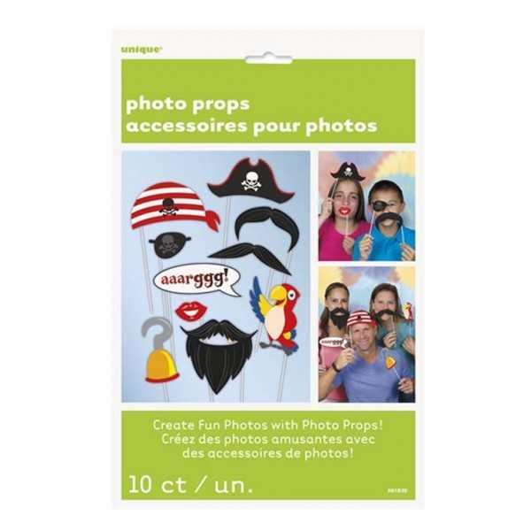 Photobooth Set Piraten, 10-tlg