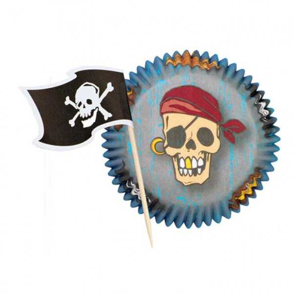 Cupcake-Set Pirat, 48-tlg