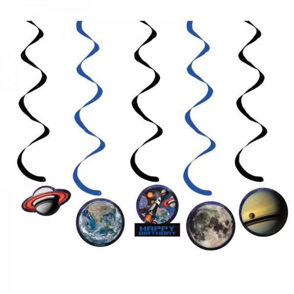 Hängedeko Weltraum, 5-tlg.