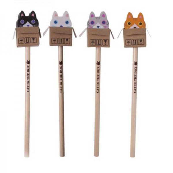 Bleistift mit Radierer Kätzchen