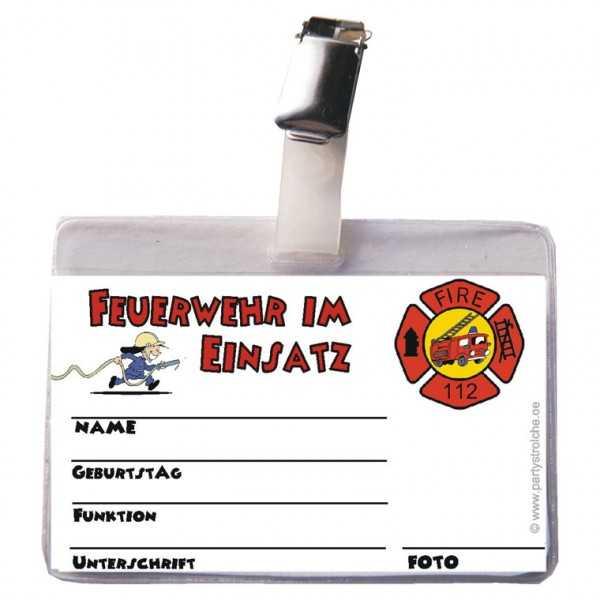Ausweis Feuerwehrmann, 1 Stk.