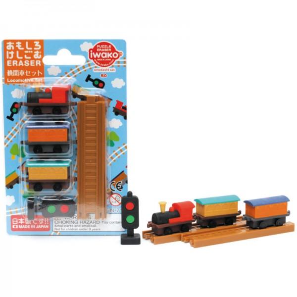 Radiergummi-Set Lokomotive
