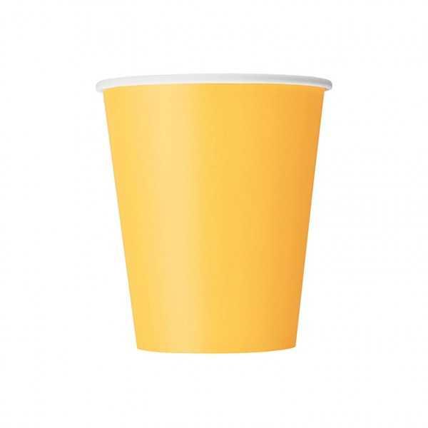 Becher gelb