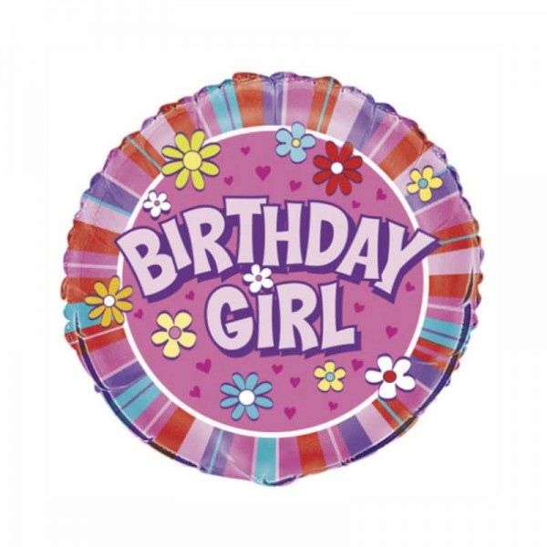 Folienballon Birthday Girl