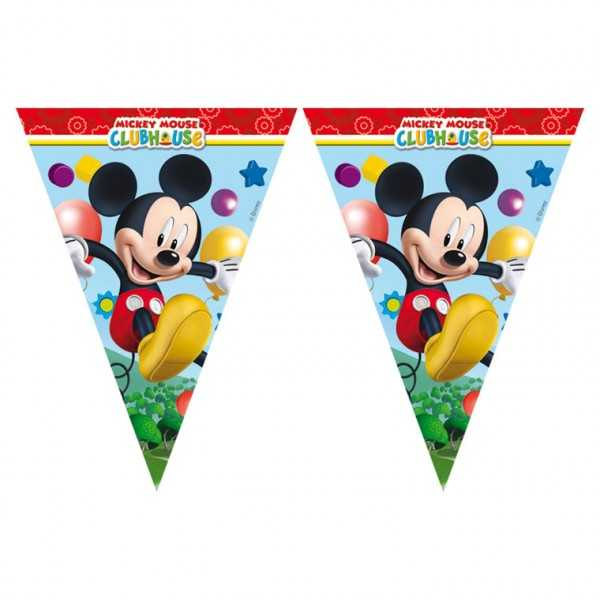 Wimpelkette Micky Maus Party, 1 Stk
