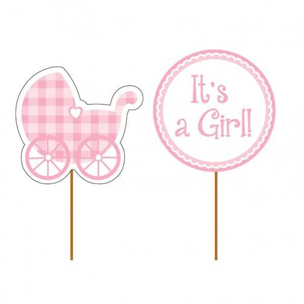 Partypicker Baby Shower, It's a Girl!, 12 Stk