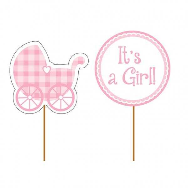 Muffinpicker Baby Shower, It's a Girl!, 12 Stk