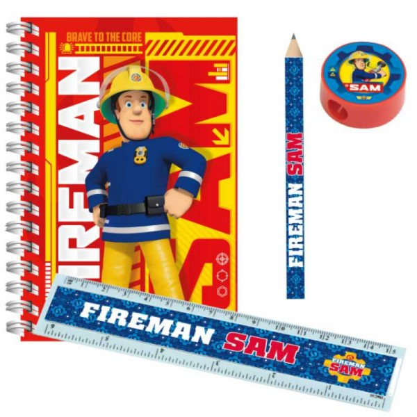 Schreibset Feuerwehrmann Sam, 4 tlg.