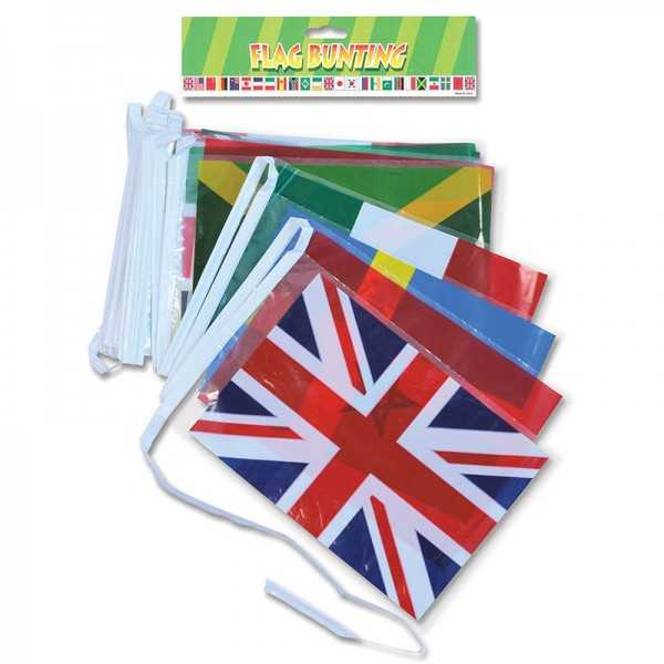 Länder Flaggengirlande, 1 Stk.