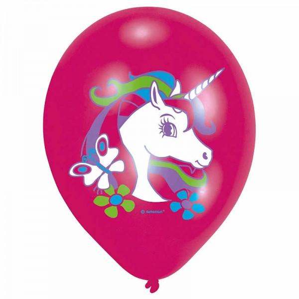 Luftballons Einhornzauber, 6 Stk.