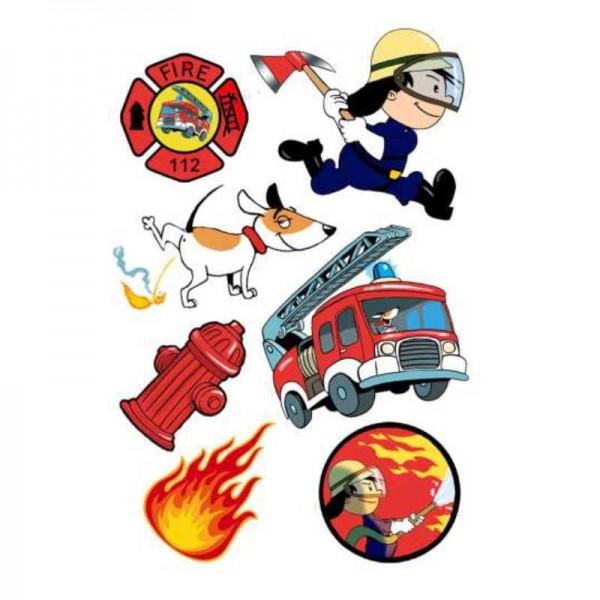 Klebetattoos Feuerwehrmann Flo