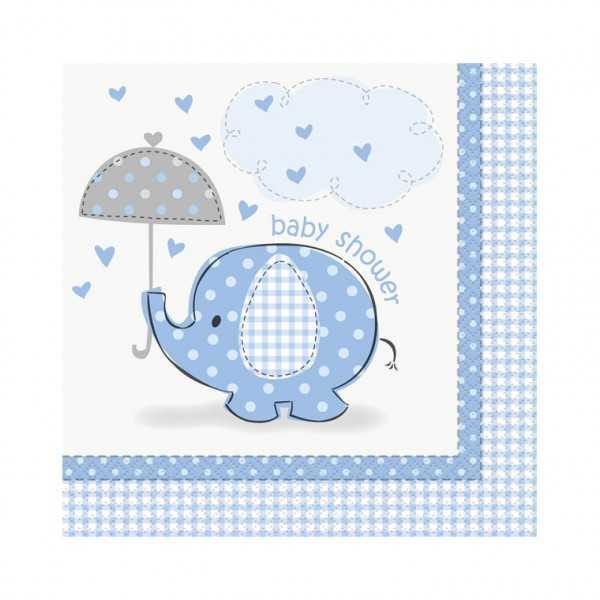 Servietten Babyfant blau, 16 Stk.