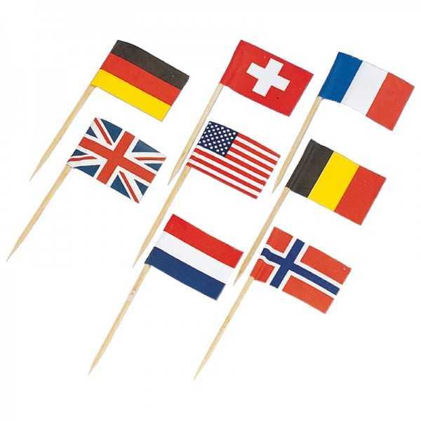 Partypicker Länderflagge, 30 Stk.