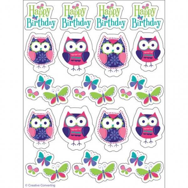 Sticker Trendy Eulen